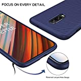 iBetter Oneplus 6T Case, Premium Soft TPU Gel Oneplus 6T Cover with [Anti-Slip] [Ultra-Thin] for Oneplus 6T Smartphone, Blue