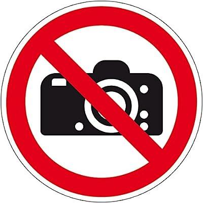 Verbotszeichen - Fotografieren verboten - Selbstklebende Folie
