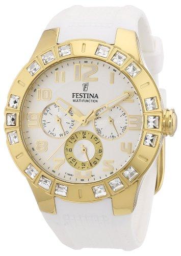 Festina - F16581/1 - Montre Femme - Quartz Analogique - Bracelet Caoutchouc Blanc