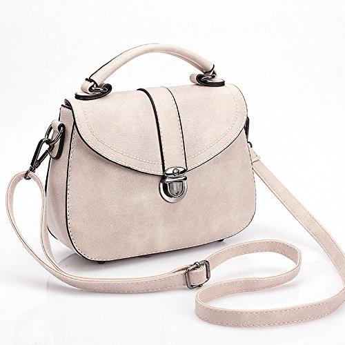 fanhappygo Fashion Retro Leder Sattel Damen Schulterbeutel Umhängetaschen Stereotypie Mode Handtaschen Schulter Kurier Handtaschen weiß