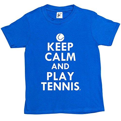 Girls T-Shirt Keep Calm /& Play Tennis Tennis Ball Kids Boys