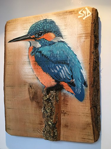kingfisher-stumped-stencil-onto-ash-sculptural-stump