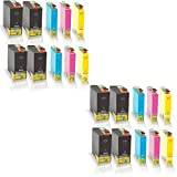 20x kompatible Tintenpatronen für Epson Workforce 525 Workforce 630 Workforce WF 3010 DW WF 3520 DWF WF 3530 DTWF WF 3540 DTWF Black Cyan Magenta Yellow Sparset C13 T1301 C13 T1302 C13 T1303 C13 T1305 - Office Quantum Serie