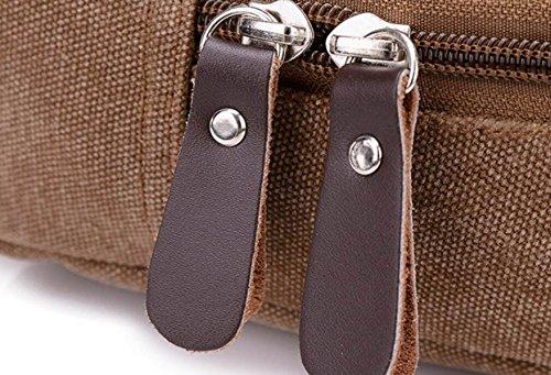 FZHLY Koreanische Version Der Männer Messenger Bag Multifunktionales Leinwand Chest Tasche,Black Black