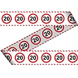 Banner fiesta Cinta de contención 20 cumpleaños señal de tráf