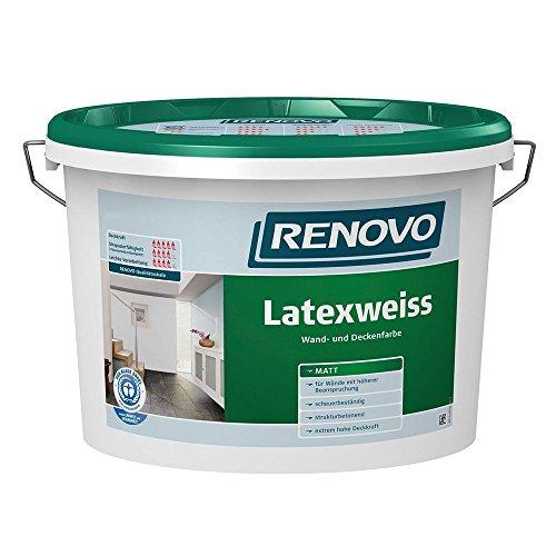 Latexweiss Latexfarbe 10 L Matt Renovo Wand Deckenfarbe