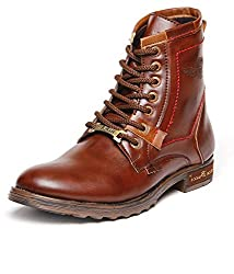 BACCA BUCCI MEN TAN PU BOOTS 07 UK