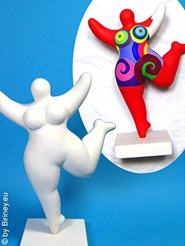 wetterfeste Nana-Figur 24cm zum selber Bemalen! Nana-Skulptur für den Garten