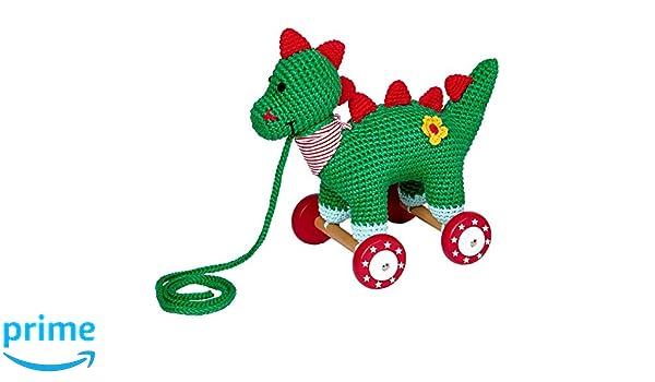 Dino auf Holzrollen BabyGlück Holzspielzeug