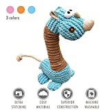 ubest Hundespielzeug aus Plüsch, Giraffe Plüsch-Stoffspielzeug, Quietschspielzeug für Hunde, Blau, Größe L