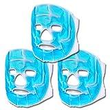 S/O® 3er Set Kühlmasken Blau Gesichtsmaske Kühlmaske Kühlbrille Augenmaske Gelmaske Schlafmaske Entspannungsmaske Gelbrille Migräne Maske Brille
