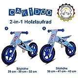 Caridoo® Kinder Holzlaufrad 2 in 1 aus hochwertigen Holz, Beliebte Kindermotive: Pferde und Piraten, ab 2 Jahre (Piraten Welt)