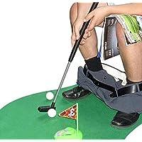 Amasawa Mini-Golf para baño,1 Juego de 6 Piezas,para Inodoro Golf Funny Potty Putter para Inodoro Tiempo baño Mini Golf Juguete de Regalo Juego.