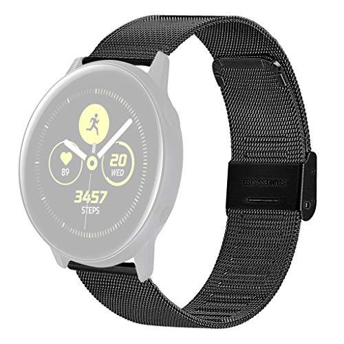Bearbelly Armband Kompatibel mit Samsung Galaxy Watch 42mm Edelstahl Atmungsaktiv Milanese Sport Business Einstellbarer Ersatz Uhrenarmband Damen Herren Kettenriemen Kreativ Geschenk (Für Samsung 2 Cricket Galaxy)