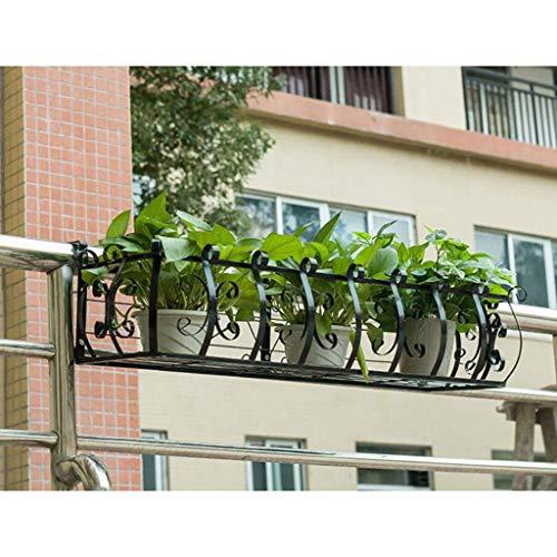 JHhuajia Support pour Plantes sur Pied Support pour Fleurs sur accoudoir (Couleur : Noir, Taille : 120 * 21 * 20cm)