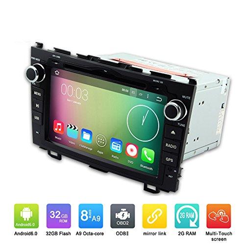 8 Zoll Okta Core 1024 * 600 Android 6.0 Auto DVD GPS Navigation Multimedia Player Auto Stereo für Honda CR-V 2006 2007 2008 2009 2010 2011 Radio Lenkradsteuerung mit 3G Wifi Bluetooth Free 8G SD Karte Karte (Auto Stereo-crv)