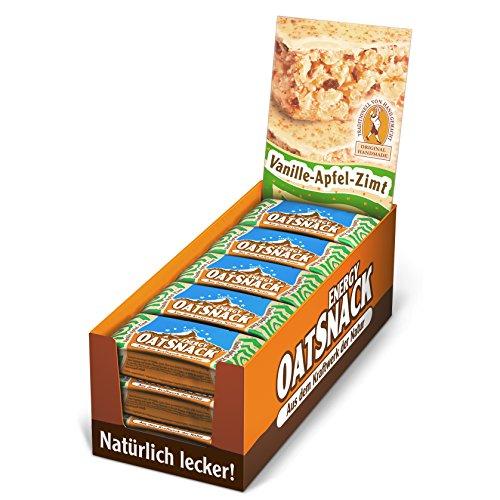 Vanille Haferflocken (Energy OatSnack, natürliche Riegel - von Hand gemacht, Vanille-Apfel-Zimt, 15x65g, 1er Pack (1 x 975g))