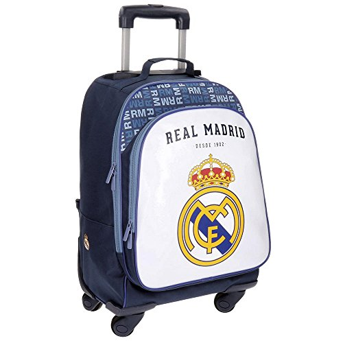 Real Madrid 5632853 Champions Equipaje Infantil, 50 cm, 33.6 Litros, Multicolor