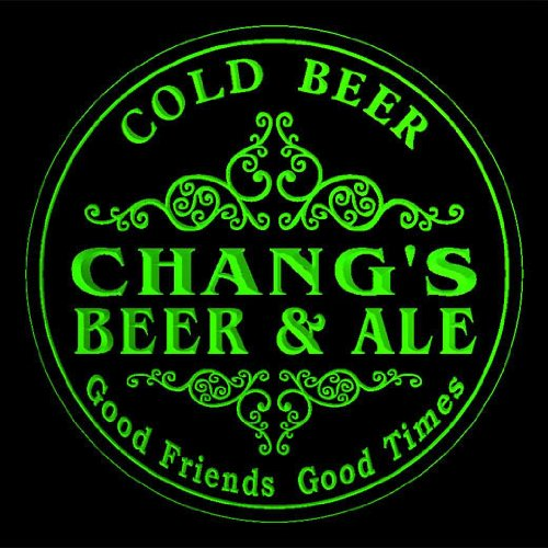 4x-ccqs1687-g-changs-beer-ale-cold-drink-bar-etched-engraved-3d-coasters