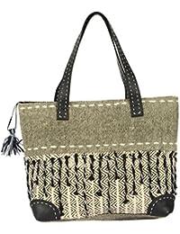 Madelyn Maddy Women's Handbag (Grey And Black)