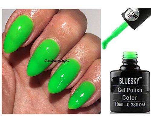 Bluesky UV/LED-Nagellack 'Limeade Fizz' in leuchtend grüner Neonfarbe 35 Lim, Soak-off-Nagellack...