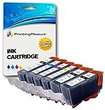 6 Tintenpatronen kompatibel zu PGI-520 CLI-521 für Canon Pixma MP540 MP540x MP550 MP560 MP620 MP620b MP630 MP640 MP980 MP990 MX860 MX870 iP3600 iP3680 iP4600 iP4680 iP4700 - Schwarz/Foto Schwarz/Cyan/Magenta/Gelb, hohe Kapazität