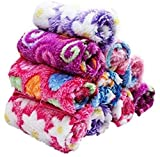 N G Products Handkerchief for Women, Girls, Kids Soft Towel with Love, Flowers Multicolor (Pack of 10)