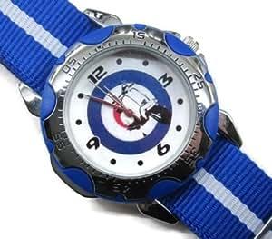 Uhren NEU Leder Herren Armbanduhren Geschenk SUSP07 Rotating Bezel Sporty Watch + Nylon Strap Blue - LAMBRETTA VESPA MOD TARGET #2