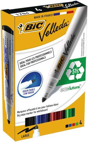 Marker Velleda 1701 Eco okrÄgĹy Mix 4 kolory