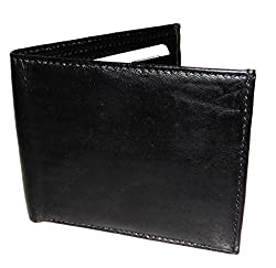 Black Genuine Handcrafted Leather Bi Fold Mens Wallet Holds 6 Cards & Bill Holders By Holboro