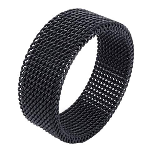 dfhdrtj Stilvoller Chic, US-Größe 6-12 Paar Edelstahl Mesh massiv Lover Ring Schmuck für Damen & Mädchen (kein 8 schwarz)