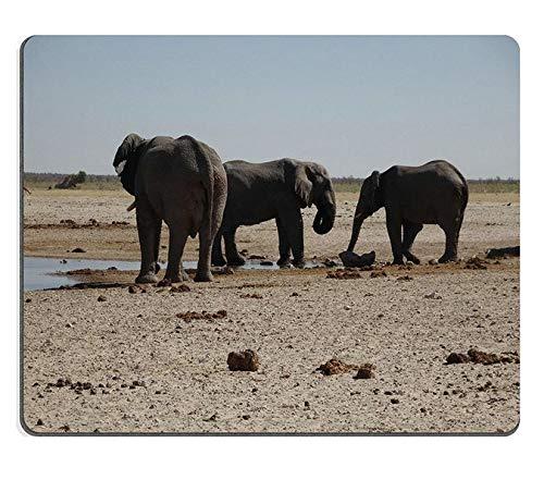 Mauspad Gaming-Mauspad Elefanten Trinken Ozonjutji m Bari Etosha Namibia Naturkautschukmaterial ()