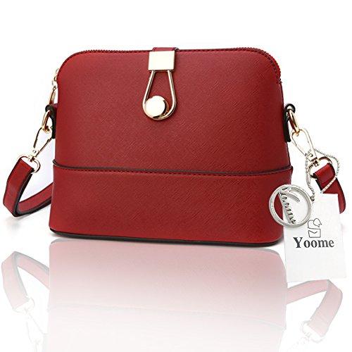 Sacchetti di frizione di fascino del sacchetto di lusso del Retro Retro Retro modello di Yoome per le ragazze casuali delle borse per le donne - azzurro Rosso