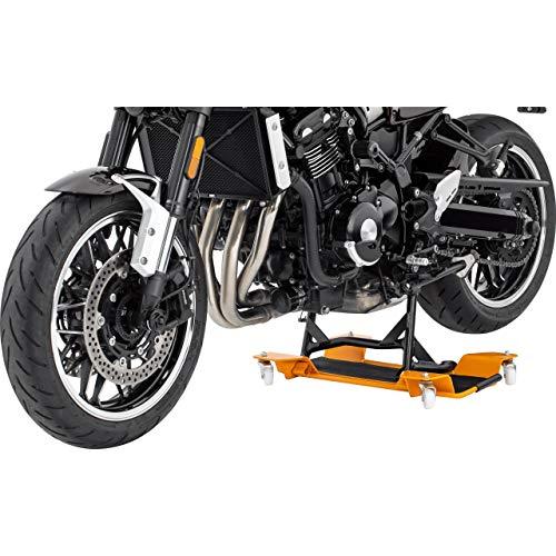 Hi-Q Tools Motorrad-Montageständer Rangierhilfe ll für Hauptständer, für einfaches Verschieben, für Fast alle Motorräder und Roller mit Hauptständer, Rot, bis 55 cm Breite