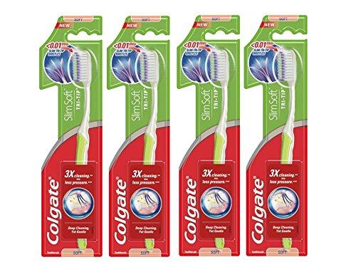 Colgate oral care cepillo de dientes Slim Soft Tri Tip suave – Juego de 4 9fa7189b0100