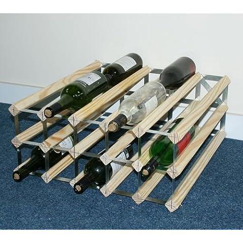 Doppia profondità 30 bottiglia di legno di