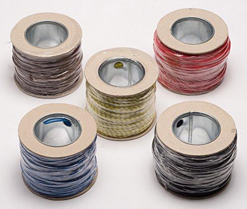 Preisvergleich Produktbild Ofen Hitze Feuerbeständig Hohe Tempertatur Geflochten Glasfaser Draht kabel 1.5mm - Weiß, 5 metre