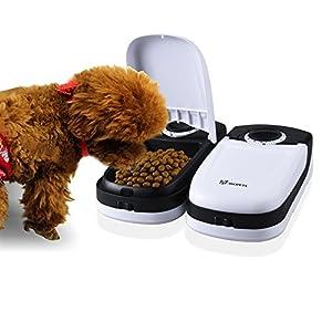 wopets Distributeur automatique de nourriture/distributeur de nourriture avec minuteur pour chat et petit chien, 2repas