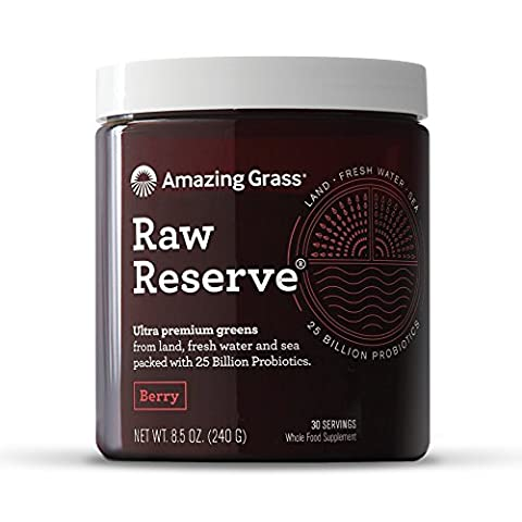 Amazing Grass, Raw Reserve, Green Superfood, Berry, 8.5 oz (240 g)