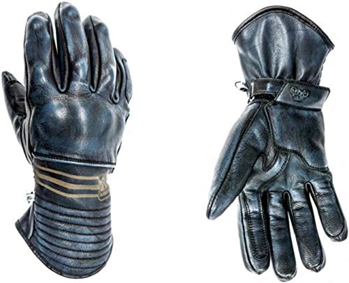 Preisvergleich Produktbild Helstons Motorradhandschuhe Rider Winter Leder Blau,  Blau,  T8