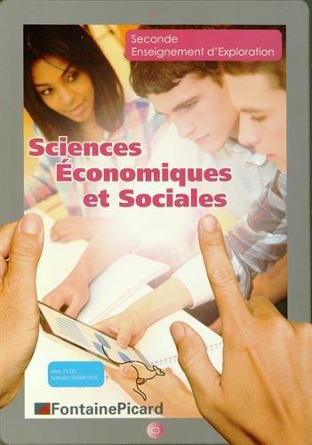 Sciences Economiques et Sociales 2e Enseignement d'exploration : Feuillets détachables