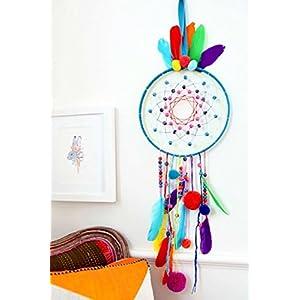 Handgefertigte Kinder Traumfänger - Bommel, Troddel, Perle Traumfänger - Kinderzimmer / Zimmer - Bohemien Modern Wand Dekoration - Geschenk
