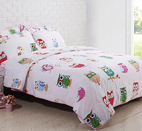 Kelly' Harvest House 100% natürliche Baumwolle Baby Bettwäsche Coverlet Quilt Bettdecke Wurf Decke für Kinder Girl & Boys Bett Geschenk, Sommer Brise Reversible leichte Quilt Cover, blau, Twin/Quee