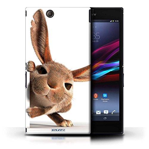 Kobalt® Imprimé Etui / Coque pour Sony Xperia Z Ultra / Chien avec casque conception / Série Animaux comiques Petit lapin curieux