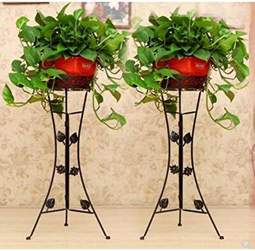 HJ Style européen épaissie Cravate Art Fleur Stand Chambre Salon Balcon Pliant Vert Rose orchidée Fleur Stand 80 cm 90 cm (Couleur : Noir, Taille : 80cm)