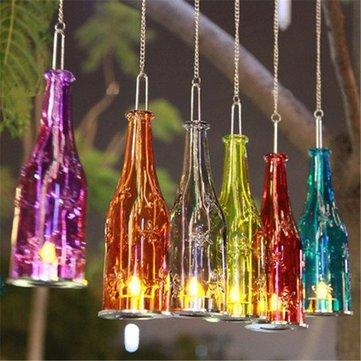 Beer Bottle Hanging Glass Candlestick Candleholder Candlelight Candelabra Romantic Wedding Decor -