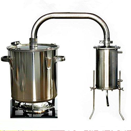 12-70L DIY CASA Alambique Destilador Destilación Still Caldera Termómetro Vino Alcohol Agua Esencial Aceite Kit