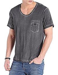 Diesel T-Shirt pour hommes Col Rond Manches Courtes T-Kurrilos