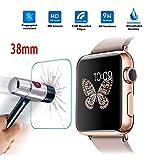 Schutz folie Bildschirmschutz für Apple Watch 38mm Schutzfolie panzerglas Echt Glas