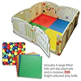 NEW Venture ALL STARS Baby Playpen | 8 Pcs Including Fun Activity Panel | Fitted Floor Mats And 200...
